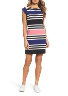 French Connection Multi Jag Stripe T-Shirt Dress