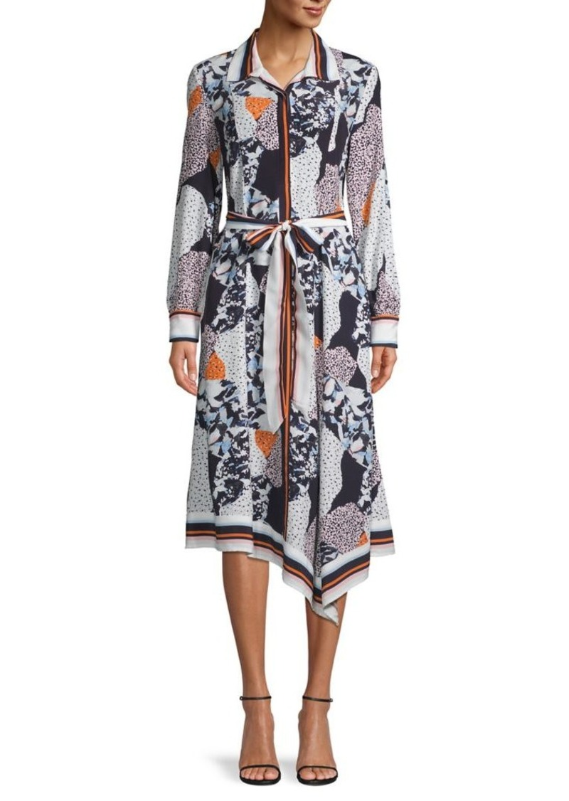 French Connection Multi-Printed Asymmetrical Shirtdress
