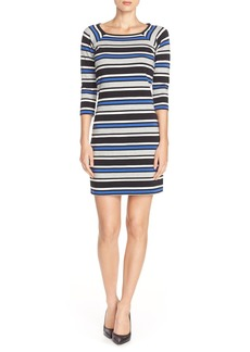 French Connection Multi Stripe Jersey A-Line Dress