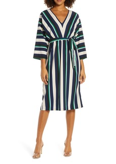 French Connection Multi Stripe V-Neck Dress