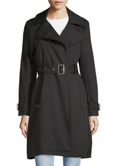 French Connection Notch Lapel Belted Trench Coat