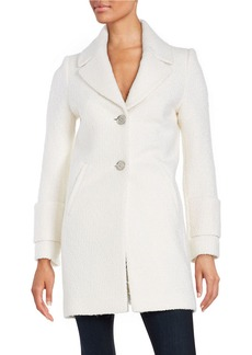 FRENCH CONNECTION Notched Collar Peacoat