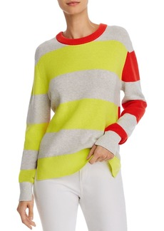 FRENCH CONNECTION Nuka Color-Blocked Cotton Sweater