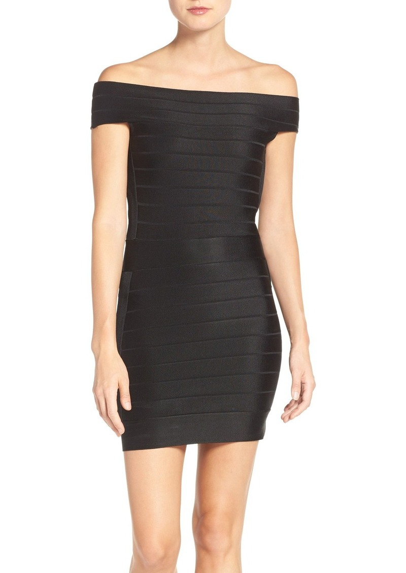 French Connection Off the Shoulder Bandage Dress