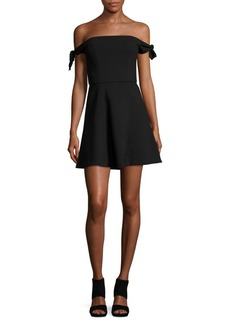 French Connection Off-the-Shoulder Fit and Flare Dress