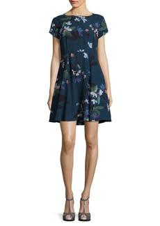 Olivie Floral Fit-&-Flare Dress
