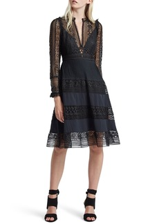 French Connection Orabelle Lace Fit & Flare Dress