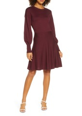 French Connection Orla Fit & Flare Sweater Dress