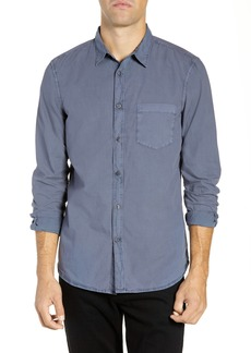French Connection Overdyed Regular Fit Poplin Sport Shirt