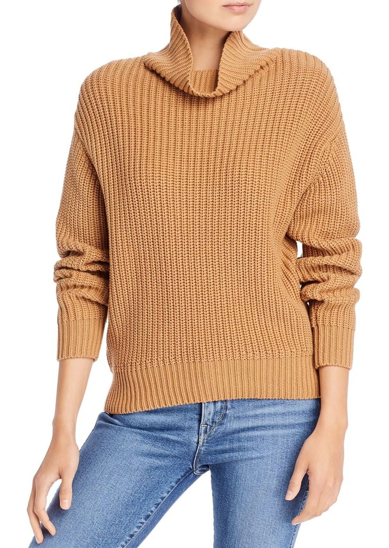 FRENCH CONNECTION Oversized Cotton Turtleneck Sweater