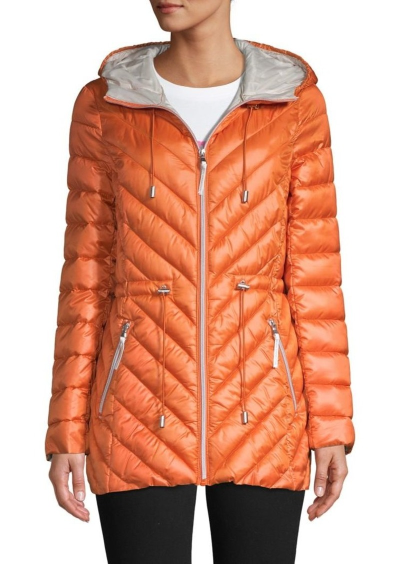 French Connection Packable Hooded Quilted Coat