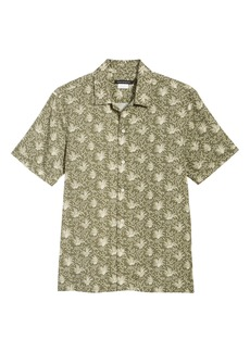 French Connection Palm Print Camp Shirt