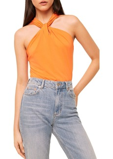 FRENCH CONNECTION Panthea Twisted Halter Top