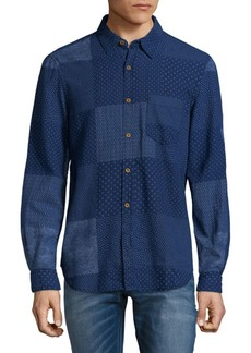 French Connection Patch-Style Cotton Button-Down Shirt