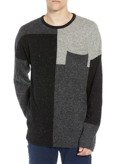 French Connection Patchwork Donegal Wool Blend Sweater