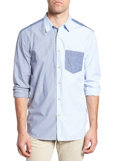 French Connection Patchwork Relaxed Fit Sport Shirt