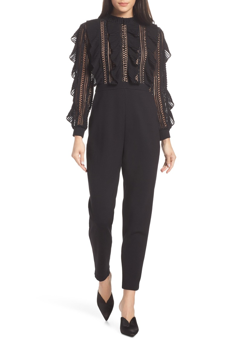 French Connection Patricia Lace Bodice Jumpsuit