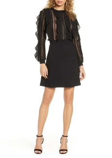 French Connection Patricia Long Sleeve Lace Dress
