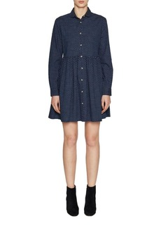 French Connection Patterned Cotton Fit-&-Flare Dress