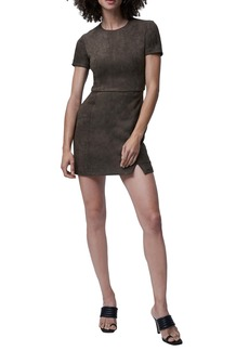 French Connection Patty Faux Suede Minidress