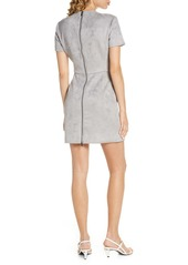 French Connection Patty Short Sleeve Suedette Dress