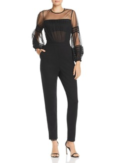 FRENCH CONNECTION Paulette Sheer Detail Jumpsuit