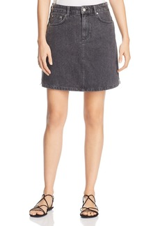 FRENCH CONNECTION Pepper Denim Mini Skirt in Black