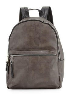 French Connection Perry Crocodile-Embossed Backpack