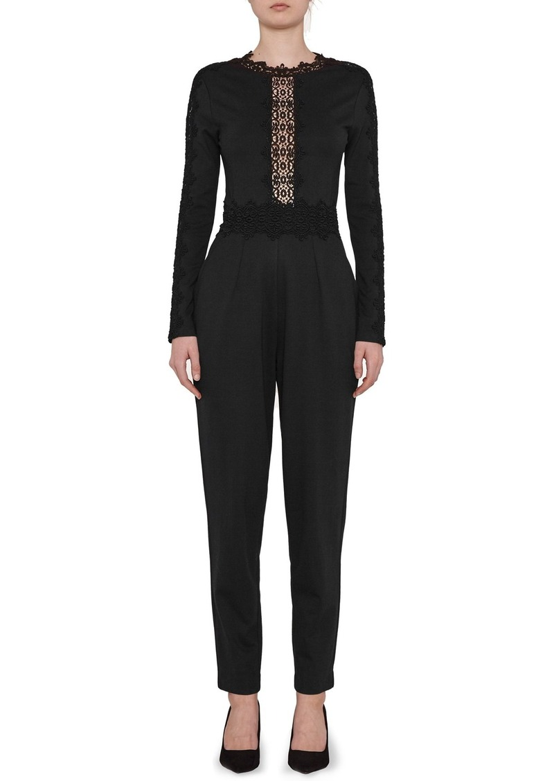 French Connection Petra Lace Inset Jumpsuit