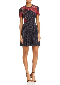 FRENCH CONNECTION Phoebe Polka Dot Lace Dress