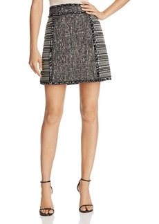 French Connection Pixel Mix Fringed Mini Skirt