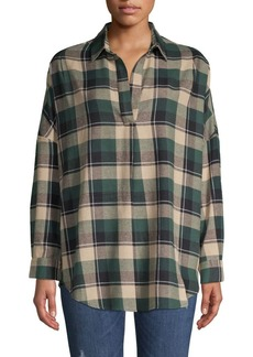 French Connection French Connection Plaid Cotton-Blend Shirt