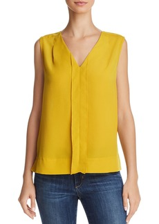 FRENCH CONNECTION Pleated Crepe Top