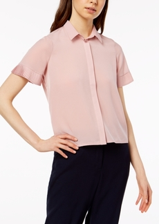 French Connection Pleated-Cuff Blouse