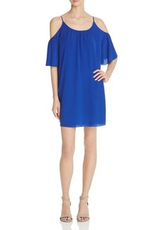 FRENCH CONNECTION Polly Plains Cold-Shoulder Dress