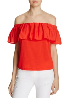 FRENCH CONNECTION Polly Plains Off-The-Shoulder Top