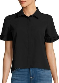 French Connection Polly Plains Pleated Shirt