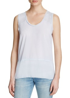 FRENCH CONNECTION Polly Plains Raw-Edge Tank
