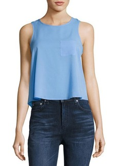 French Connection Polly Plains Sleeveless Crop Tank Top