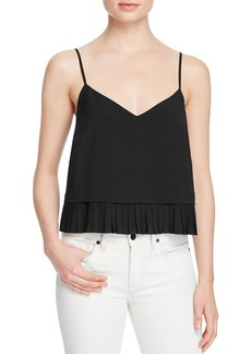 FRENCH CONNECTION Polly Pleat Cropped Tank