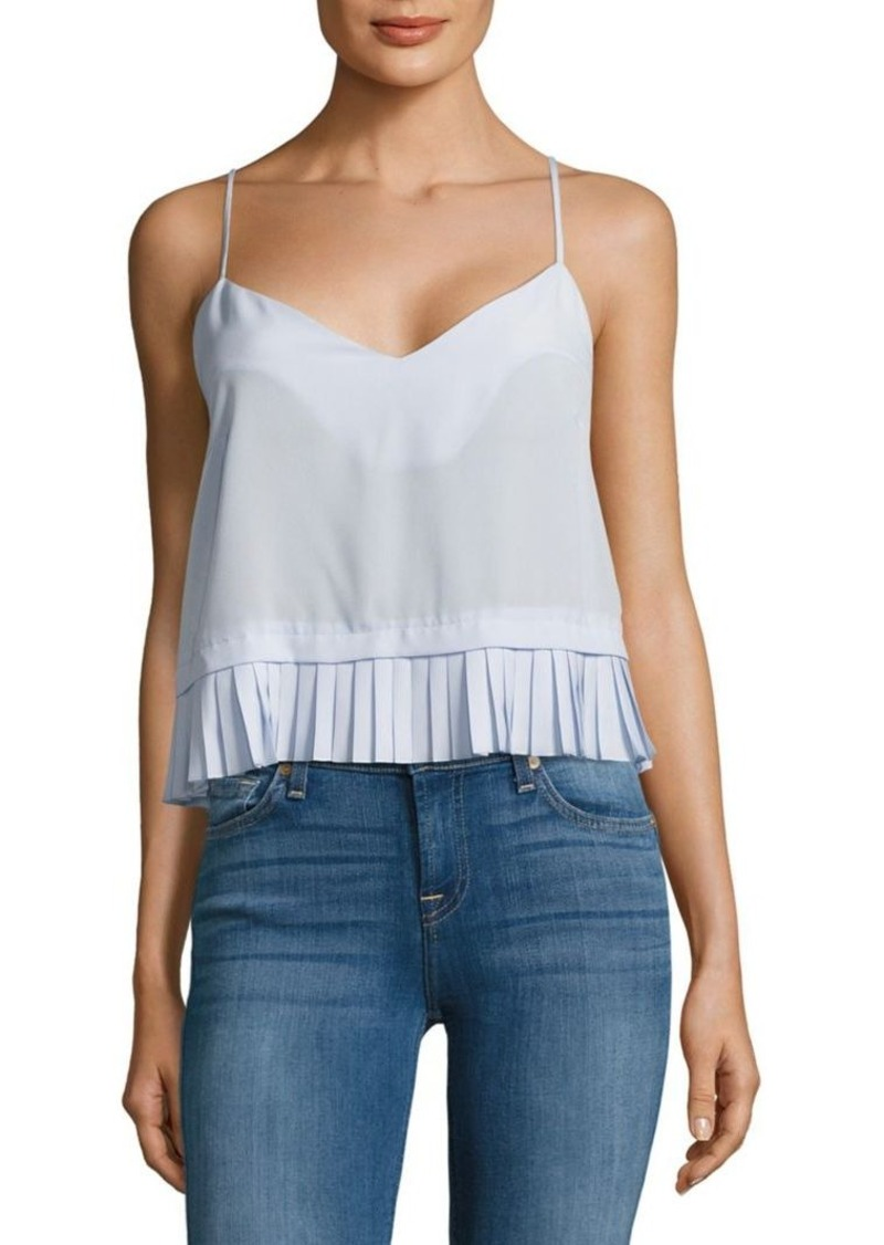 French Connection Polly Pleated Cropped Tank Top