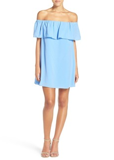 French Connection 'Polly' Ruffle Off the Shoulder Dress