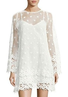 French Connection Posy Lace Long-Sleeve Flared Dress