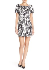 French Connection Print Woven Sheath Dress