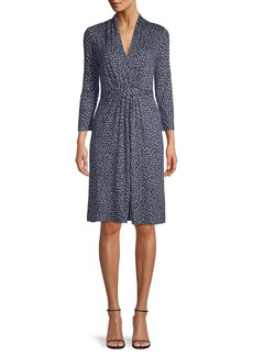French Connection Printed Belted Dress