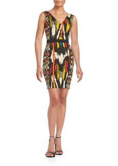 FRENCH CONNECTION Printed Cotton-Blend Sheath Dress
