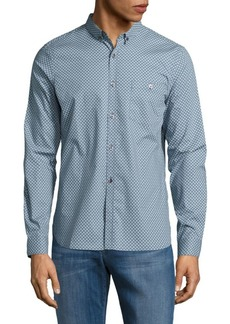 French Connection Printed Cotton Casual Button-Down Shirt