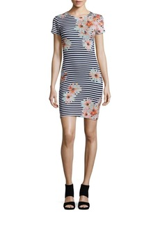 French Connection Printed Short Sleeve Dress