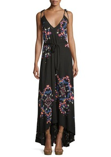 French Connection Printed Tie-Strap Maxi Dress