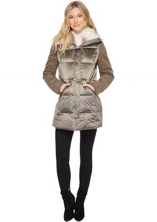 French Connection Puffer with Faux Fur Hood